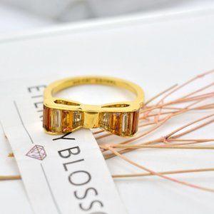 Henri Bendel Zircon Inlaid Bow Ring